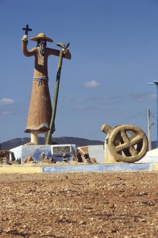 Monumento de Antônio Conselheiro, no Parque Estadual de Canudos LUCIANO ANDRADE/