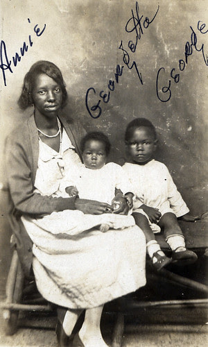 african-american familt, vintage