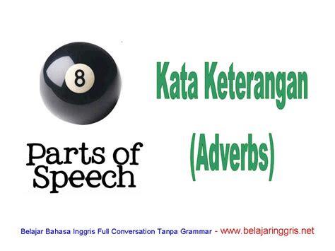 kata keterangan  bahasa inggris adverb