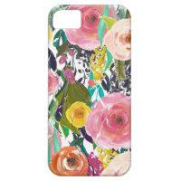 Romantic Garden Watercolor Flowers iPhone 5 Case