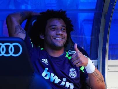 Marcelo segue fora do Real Madrid por não estar entre os de melhor desempenho no elenco Foto: Getty Images