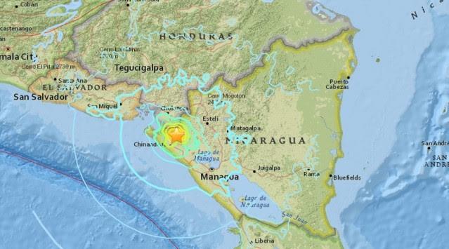 Σεισμός 6,4 Ρίχτερ στη Νικαράγουα – Αισθητός ως την Ονδούρα (ΦΩΤΟ)