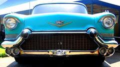 Blue Cadillac front, Elvis Presley Auto Museum