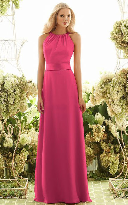 Floor-length Natural A-line Jewel Sleeveless Bridesmaid Dresses_1