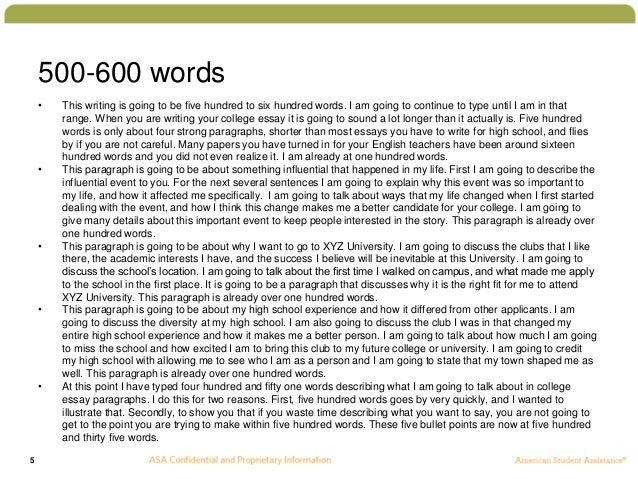 how to write a good 500 word essay