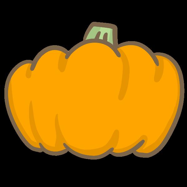 オレンジのかぼちゃのイラスト かわいいフリー素材が無料のイラストレイン