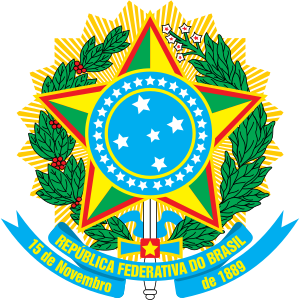 Coat of arms of Brazil, official version Españ...