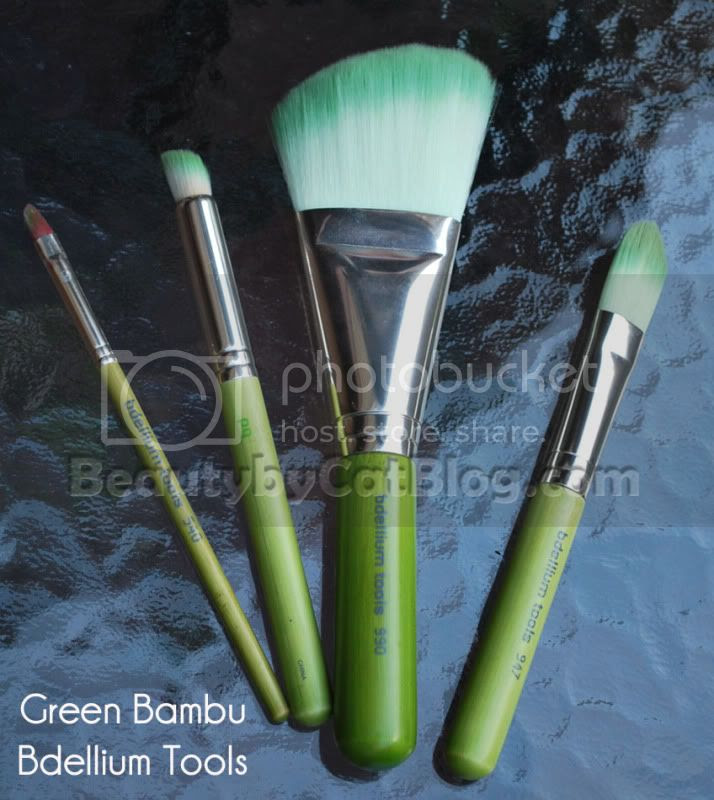 green bambu makeup brushes