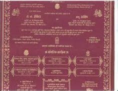 Buddhist Wedding Card in Marathi Language in India