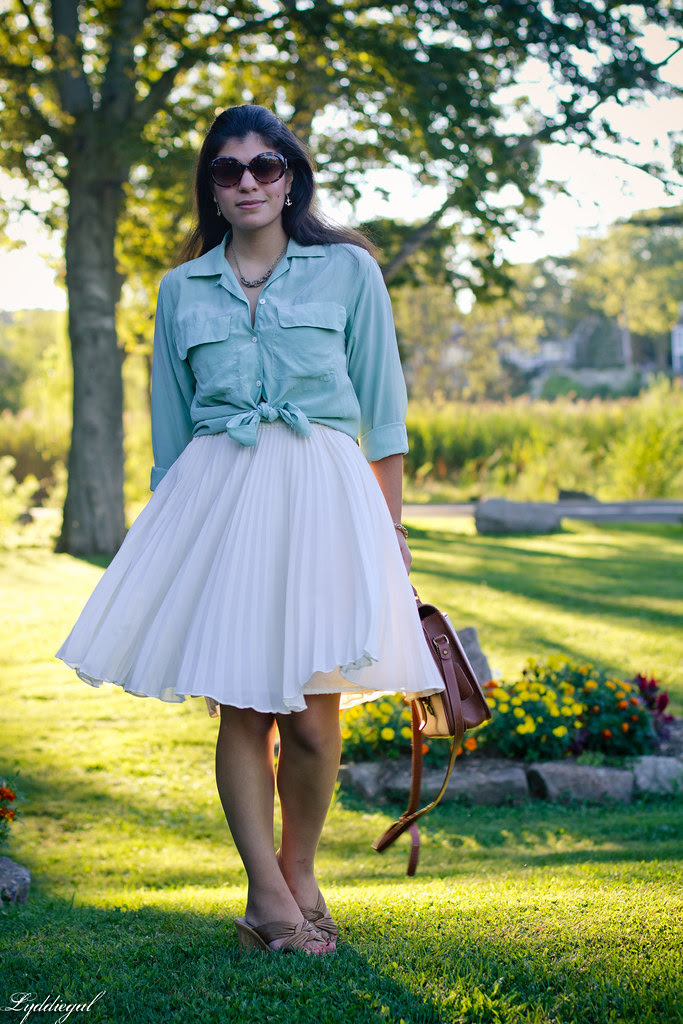 mint and pleats