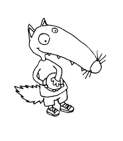 Téléchargement Gratuit Coloriage Petit Loup Imprimer