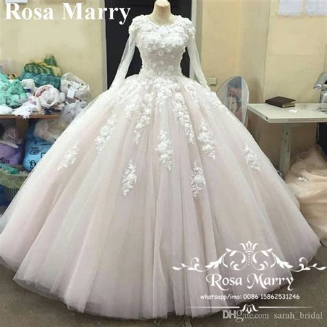 Victorian Muslim Islamic Ball Gown Wedding Dresses 2017