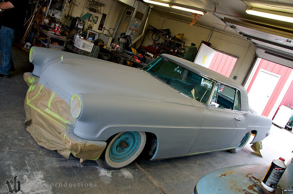 Then it was on to Ron Pinkston's Hooligan Hot Rods. Here's Rocky's Lincoln at Ron's shop.