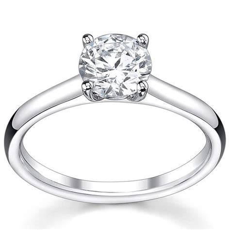 Discount Sale. Classic Cheap Solitaire Engagement Ring 0