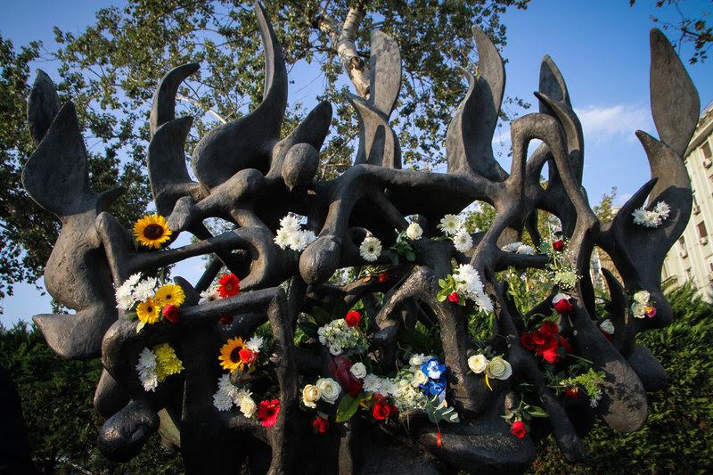To Μνημείο Ολοκαυτώματος στην Θεσσαλονίκη/ Φωτογραφία Eurokinissi