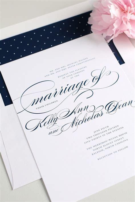 Navy Script Wedding Invitations ? Wedding Invitations