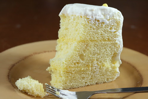 Sky High Cakes - Triple Layer Lemon Chiffon Cake (Cake Slice Bakers)