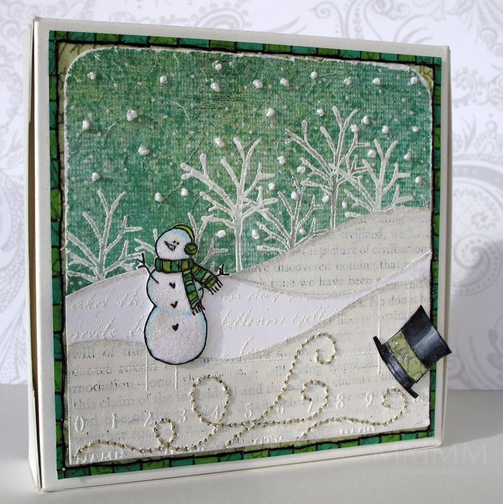 Purple Onion Design Frosty gift box (mel stampz)