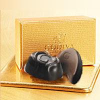チョコレートの宝石箱とも賞賛されるGODIVA自慢のプラリネのギフトボックス2粒ベルギー王室御用...