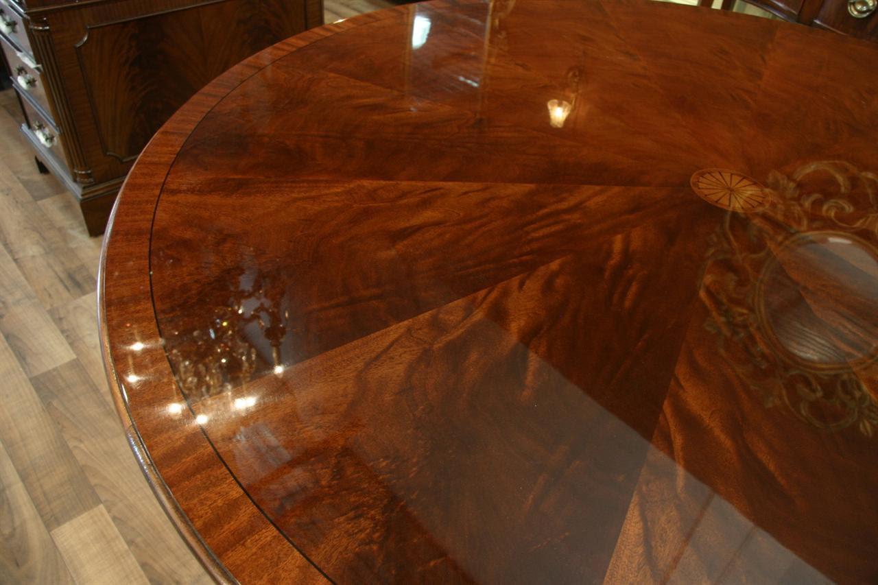 Perimeter Table Round Dining Table w Perimeter Leaves | eBay