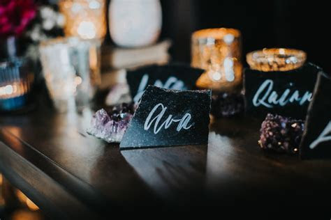 Crystal escort cards   Wedding & Party Ideas   100 Layer Cake