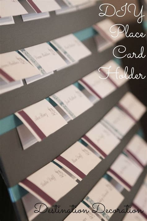 DIY Wedding Place Cards and Holder