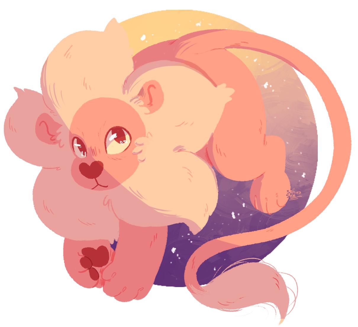 i actually kinda felt like drawing lion actually