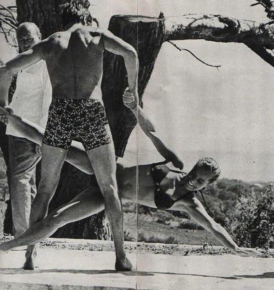 Alain Delon y Romy Schneider