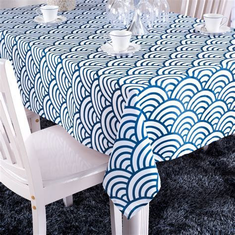Popular Blue Striped Tablecloth Buy Cheap Blue Striped