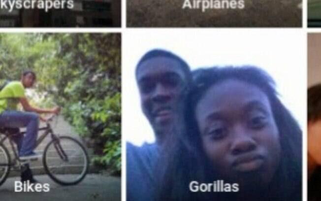 Alcine tomou um susto quando percebeu que ele e uma amiga foram identificados como gorilas
