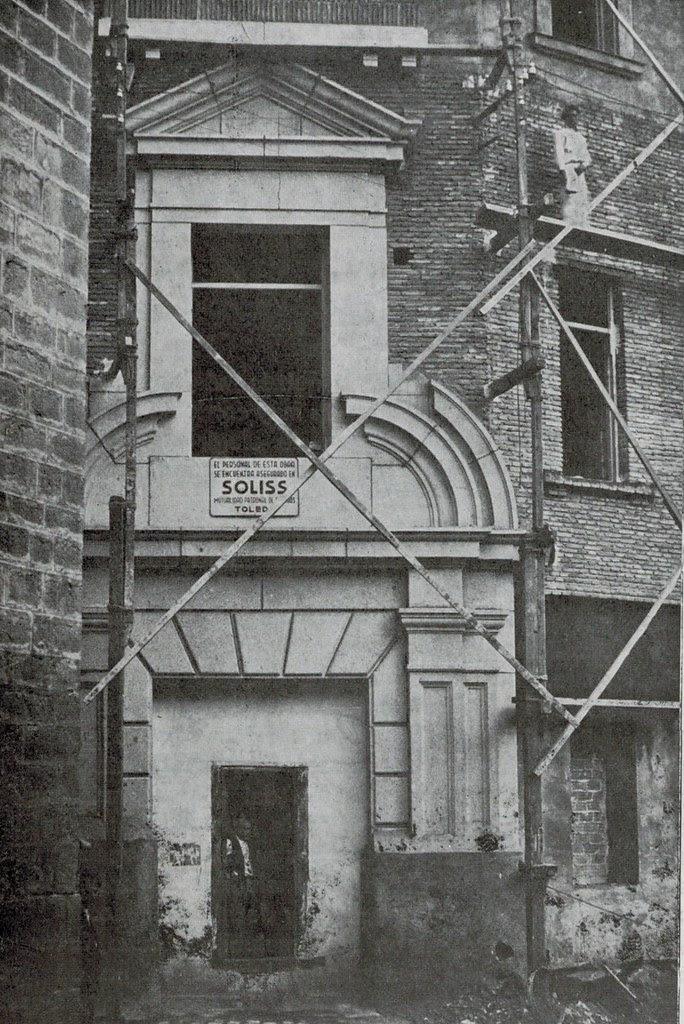 Obras de la nueva Audiencia Provincial de Toledo en el solar de la Casa del Deán hacia 1935