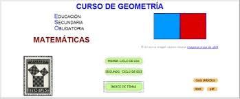 Curso de Geometría de CNICE (Centro Nacional de Investigación y Comunicación Educativa)
