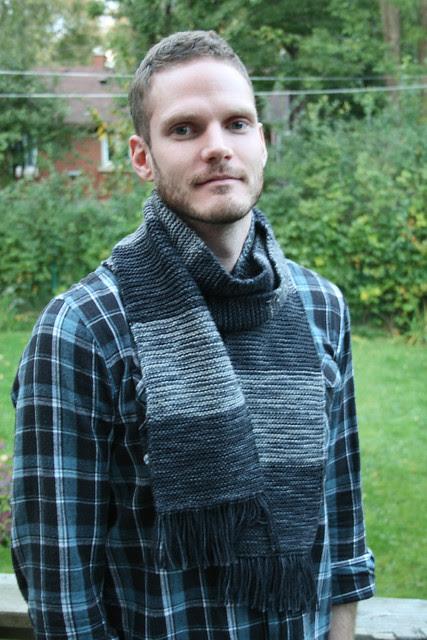 custom dyed scarf