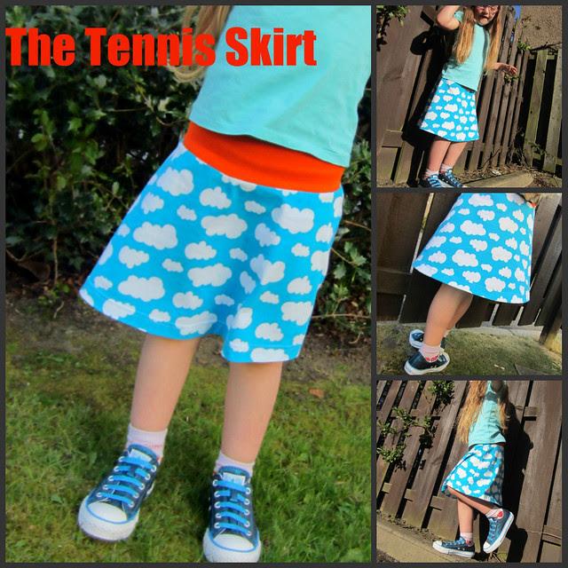 Tennis skirt collage