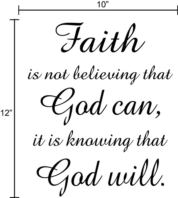 Quotes About Faith In God | Faith God Quote Wall Decal Decor Art Sticker Mural | eBay