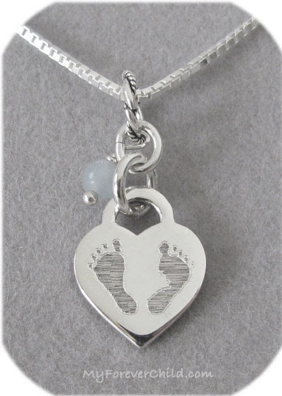 Small Baby Footprints Charm