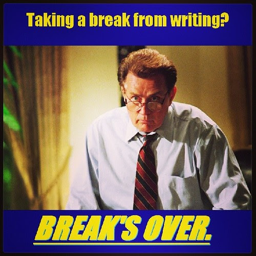 "President Bartlet says, ""Back to work."" Yes, sir. Thank you, Mr. President. #AmWriting #NaNoWriMo"