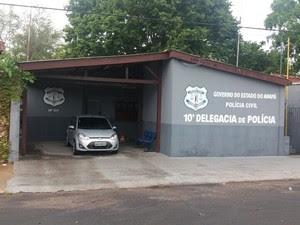 10ª Delegacia de Polícia, Fazendinha, Amapá (Foto: Jorge Abreu/G1)