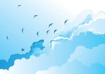 53 Gambar Awan Dan Burung Terbaik