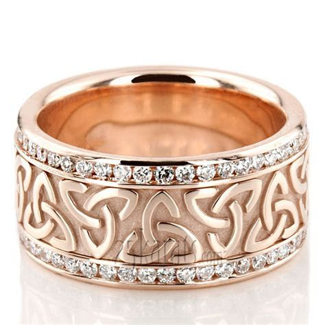 All Around Diamond Celtic Wedding Ring   DW101337   Platinum
