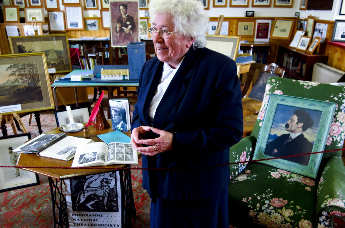 Sister Mary de Lourdes Fahy transformed a one-room schoolhouse into the the Kiltartan Gregory Museum dedicated Yeats.