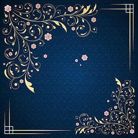 Annual Wedding Invitations Blue Pattern Background