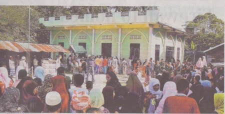 Masjid Al furqon, di Masjid ini lah pembantaian itu berlangsung