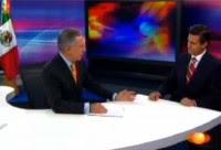 Dóriga y Peña durante una entrevista en Televisa.