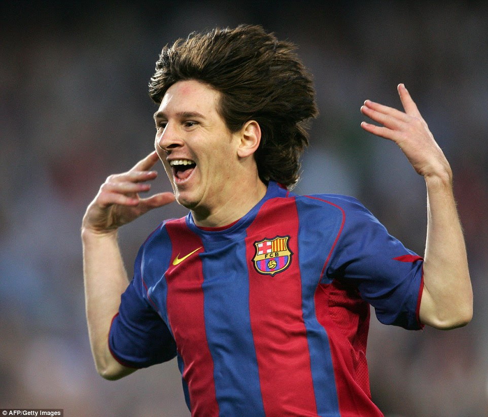 Messi broke into the first team at Barcelona during the 2004-05 season and became their youngest-ever scorer in May 2005
