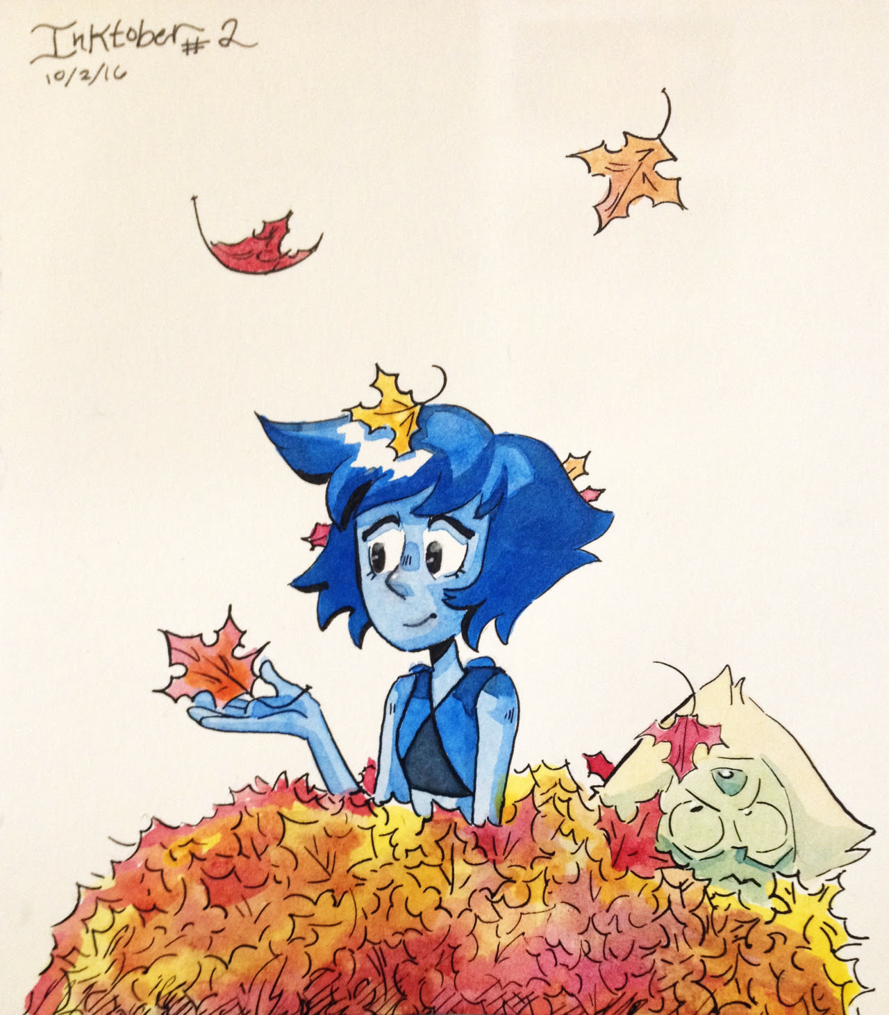 Lapis! Leaves!… and peridot Inktober #2