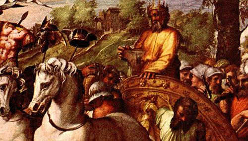 """El rey David se levantó durante el Concilio en Jerusalén de 1 Crónicas 28 y dice que el Señor Dios """"me eligió""""."""