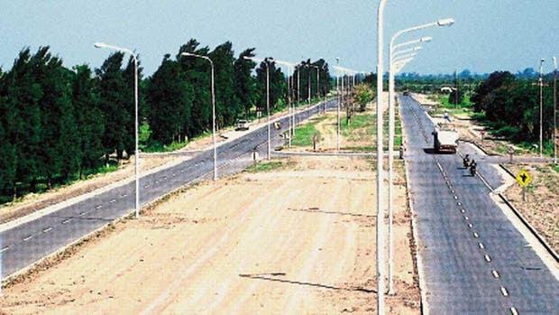 La ruta 9, a la altura de Villa Escolar, en Formosa