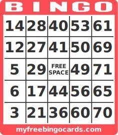 Free Printable Bingo Cards   Number generator, Printable numbers ...