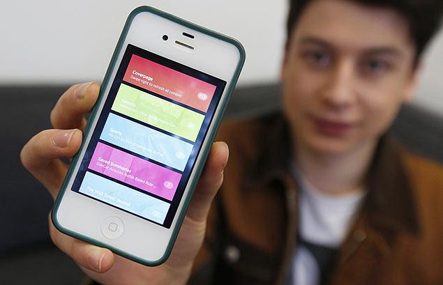Nick D'Aloisio, 17, que vendeu o aplicativo Summly ao Yahoo por US$ 30 milhões